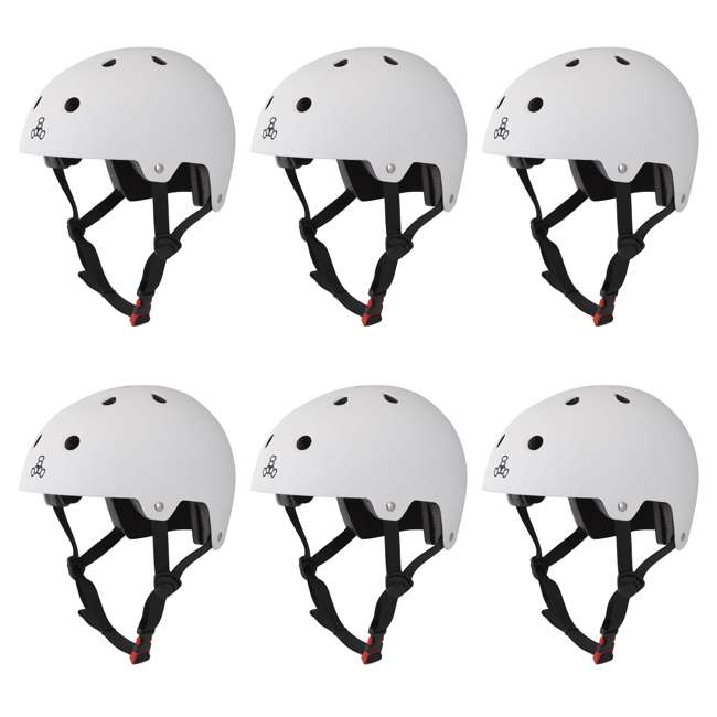 6 x T8-3018 Triple 8 Hardened Dual Certified Skate and Bike Helmet with EPS Liner, L/XL (6 Pack)