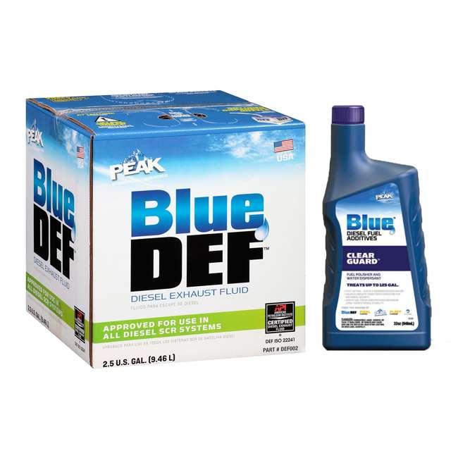 DEF002 BlueDEF Diesel Urea & Deionized Water 2.5 Gal JugPeak Diesel Additive, 32 Ounces
