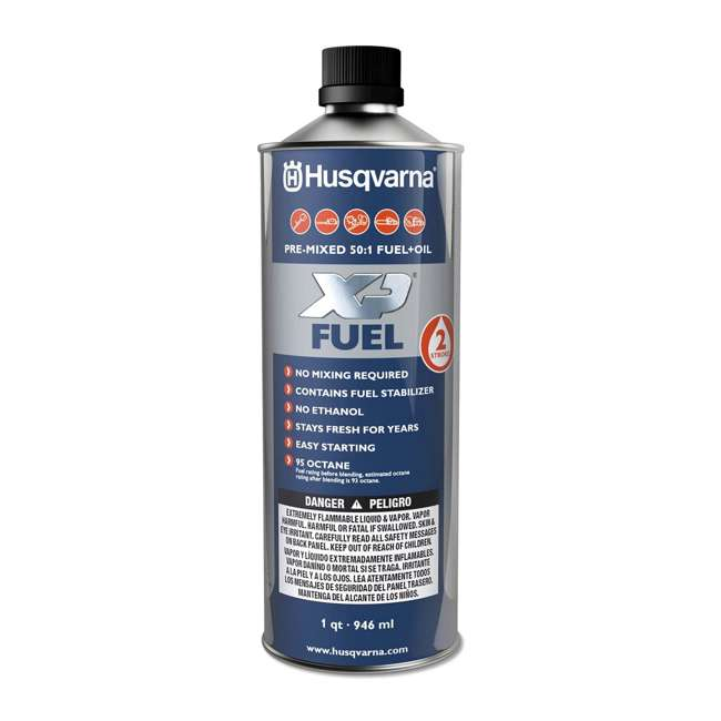 HV-FUEL-581158701 - (6 PACK-FULLCASE) Husqvarna XP Pre-Mixed Fuel and Engine Oil Quart (6 Pack) 1