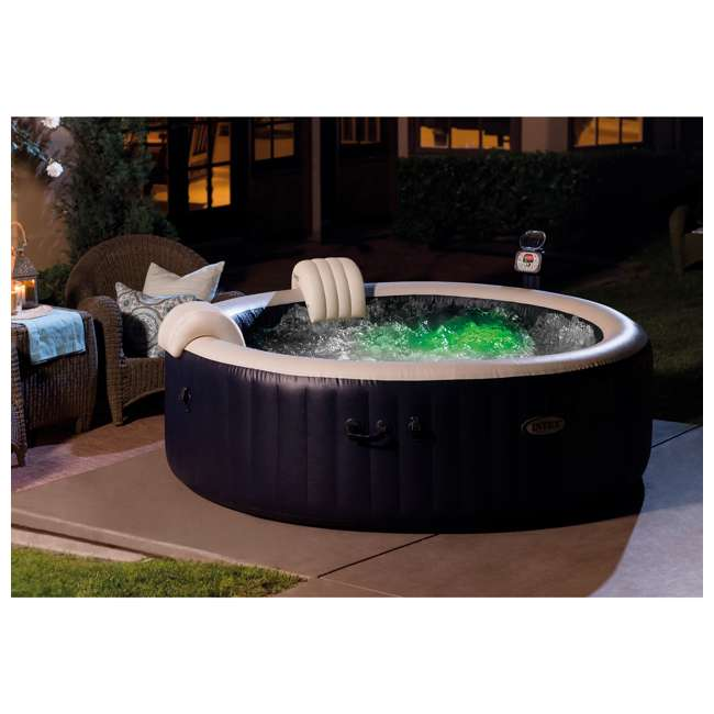 "28409E + 28500E + 3 x 29001E Intex 75"" Spa Round Hot Tub w/ Cup Holder, Refreshment Tray, & Filters (3 Pack) 8"