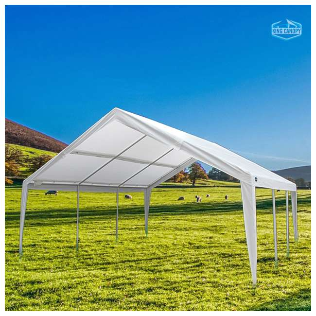EX1220 King Canopy 12 x 20, 20 x 20 Foot Universal Canopy White 3