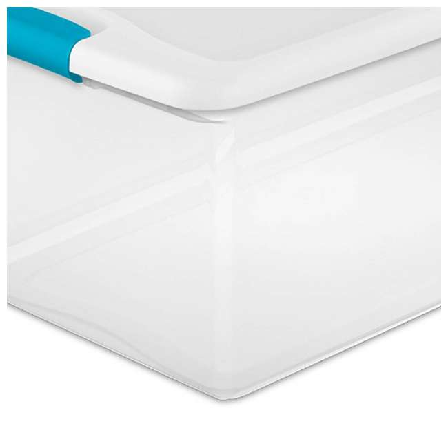 8 x 14998004-U-A Sterilite 106-Qt Clear & Blue Latching Storage Box Container (8 Pack)(Open Box) 2