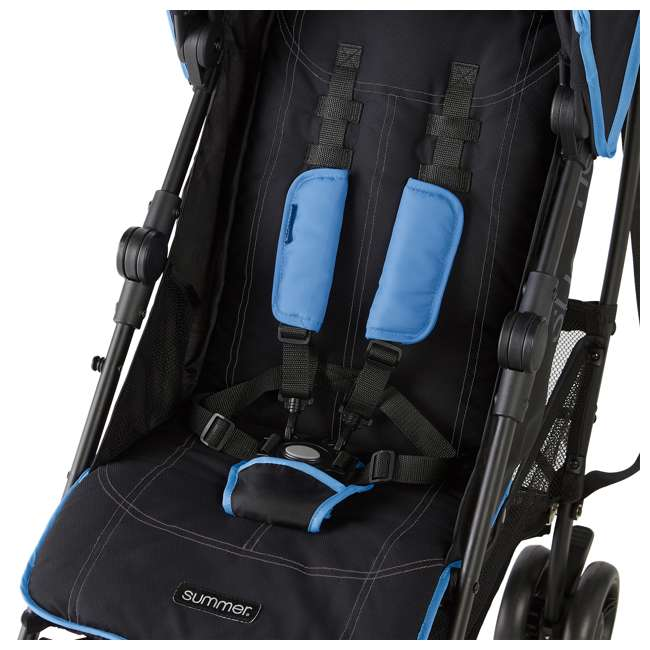 32773 Summer Infant 3DlitePlus Convenience One-Hand Adjustable Stroller Blue/Black 5