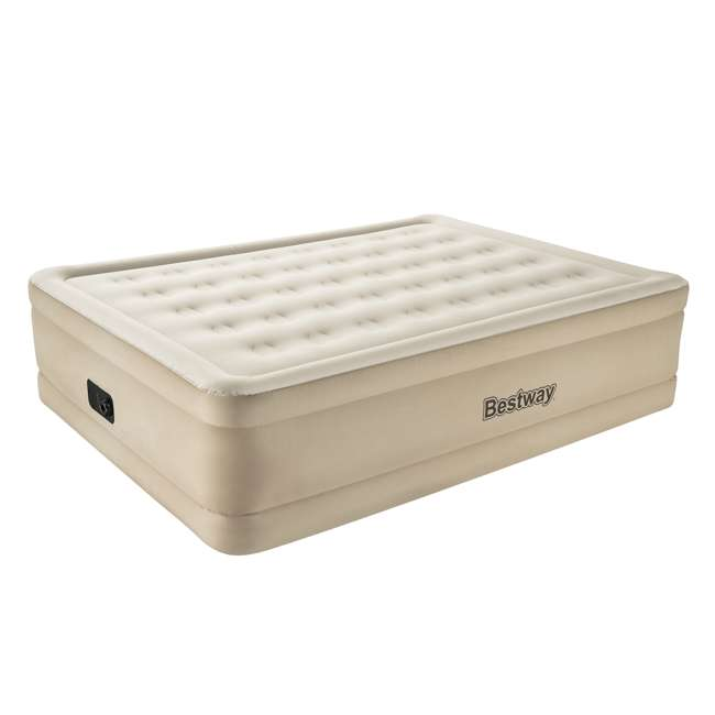 "69025E-BW-U-B Bestway Fortech 20"" Inflatable Queen Airbed Air Mattress w/ Built-In Pump (Used)"