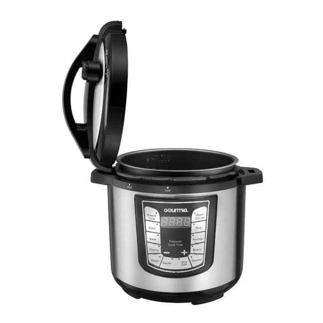 GPC625 Gourmia ExpressPot Digital Multi-Function 6 Qt. Pressure Cooker, Stainless Steel  1
