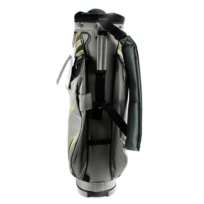 BG0218-017  Nike M9 Golf Bag Adult Cart Style Bag – 14 Way Top Divider Grey & Yellow Color 4