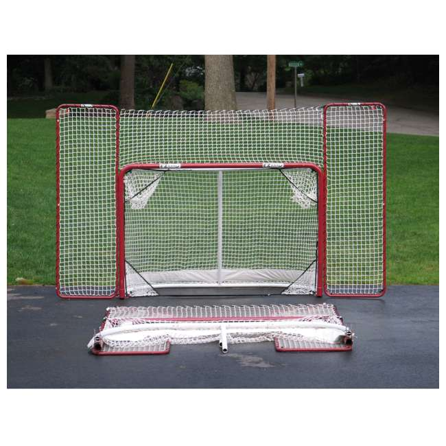 NEOP-67008 EZ Goal Portable Folding Regulation Size Hockey Training Goal Net with Backstop 6