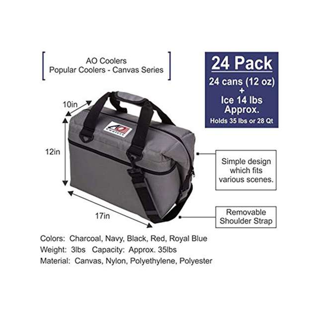 AO24RB AO Coolers AO24CH 24 Can Soft Cooler with High-Density Insulation, Royal Blue 1