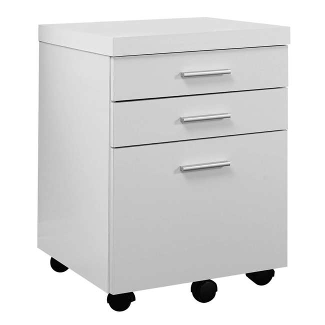 VM-7081 + VM-7048 Monarch 60 Inch Office Computer Desk w/ Filing Drawer & 3 Drawer Filing Cabinet 8