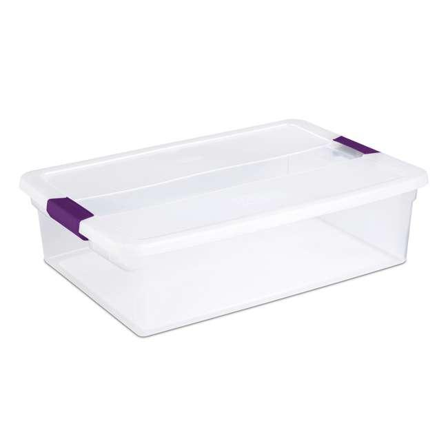6 x 17551706 Sterilite 1751 6-Quart ClearView Latch Box Storage Tote (6 Pack) 1
