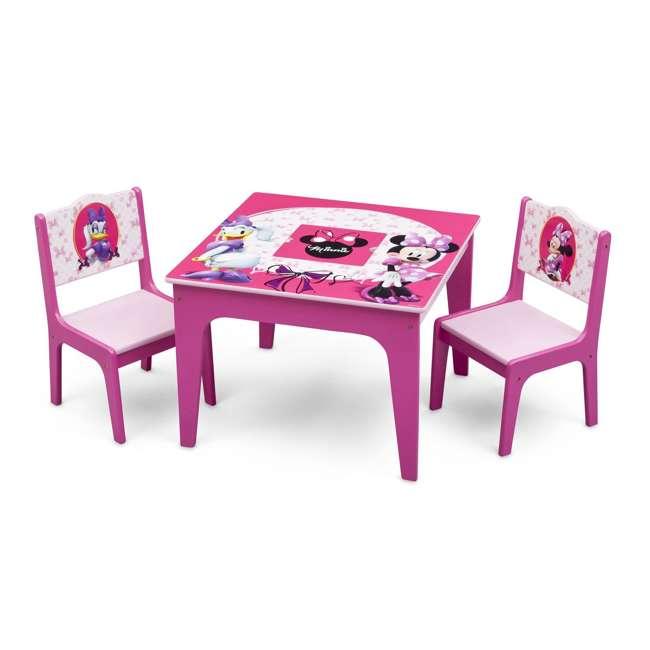 TT89500MN-1061 Delta Children Disney Minnie Mouse Deluxe Storage Table & Chairs