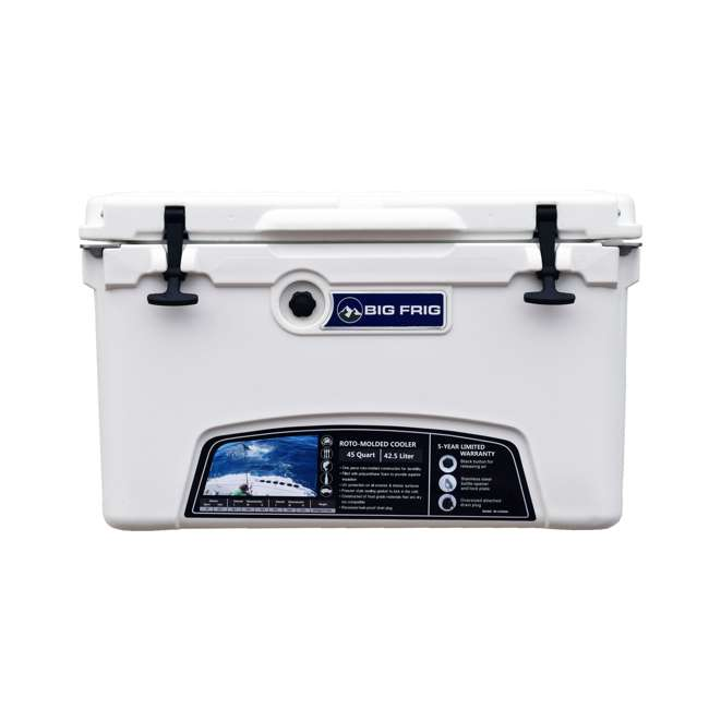 BFDB45-WH Big Frig Denali 45 Quart Insulated Cooler with Cutting Board and Basket, White 2