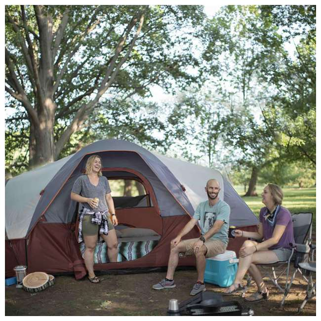 CORE-40066-U-A CORE 9-Person Extended Dome Tent, 16 x 9 Feet, Red (Open Box) 4