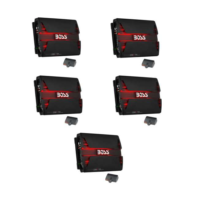 5 x PF2200 Boss Audio 2200W 4 Channel Car Audio Amplifier (5 Pack)