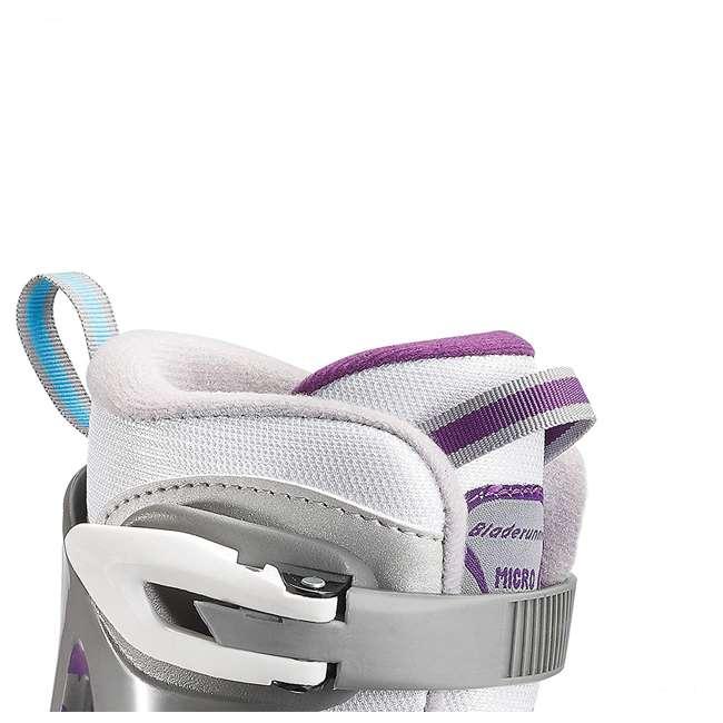 0G144500T1A-M Rollerblade Bladerunner Micro Ice G Girls Adjustable Skates, Medium, White/Blue 2