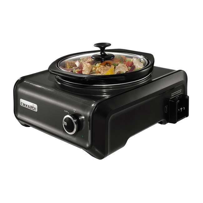 SCCPMDPK25CH Crock-Pot Hook Up 2-Quart Connectable Entertaining Slow Cooker System, Black