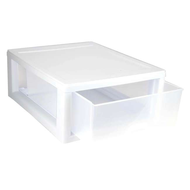 6 x 23018006-U-A Sterilite 6 Pack 6-Quart Modular Stacking Storage Drawer Containers (Open Box) 5