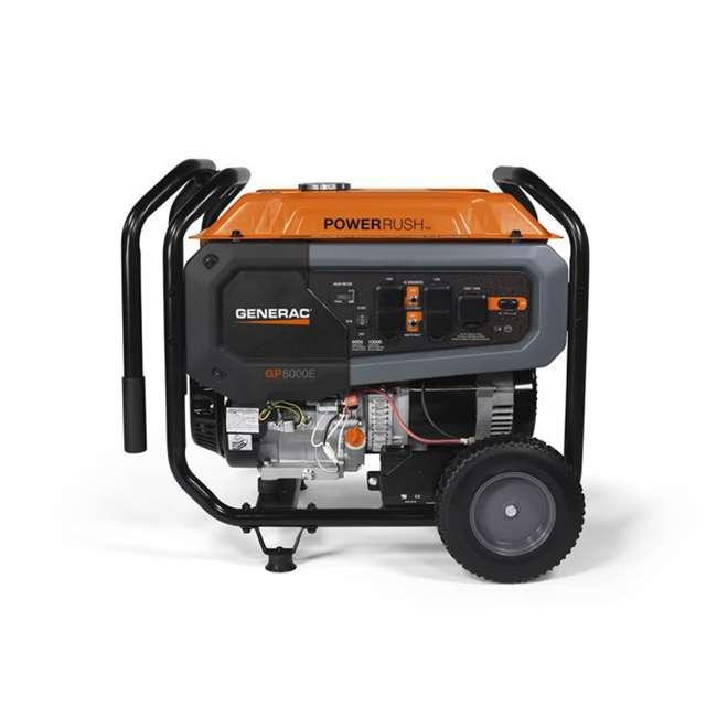GNRC-7686 Generac GP8000E 8,000 Watt 420cc Electric Start Gas Powered Portable Generator 2