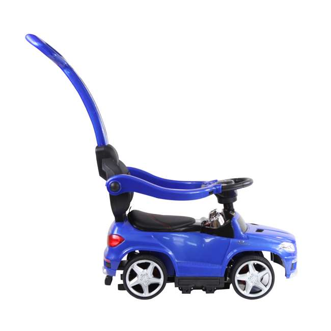 4 in 1 Mercedes Push Car White Best Ride On Cars Baby 4 in 1 Mercedes Push Vehicle, Stroller, & Rocker, Blue 1
