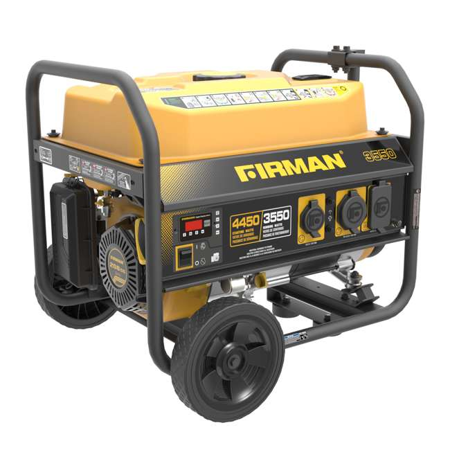 P03602 Firman P03602 3650W Wheeled Electric Recoil Start Inverter Generator 2