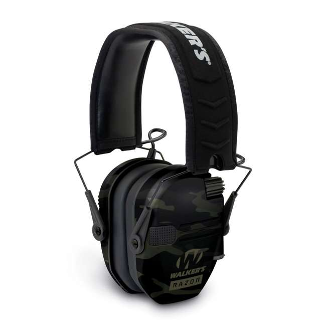 GWP-RSEM-MCCG + GWP-REMSC Walkers Razor Slim Electronic Ear Muffs (Multicam Camo Gray) & Storage Case 1