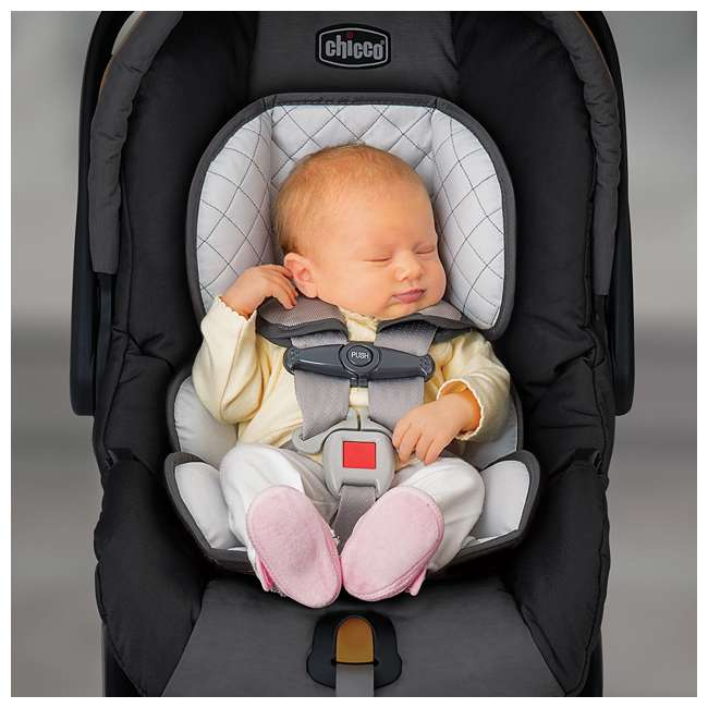 CHI-0607966295 + CHI-0706041450 Chicco Car Seat Compatible Shuttle Frame Stroller and Rear Facing Baby Car Seat 9