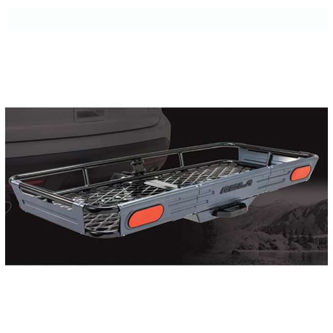 ROLA-59550-U-C ROLA Rear Mounting Basket Style Cargo Carrier for 450 lbs, Black (For Parts) 2