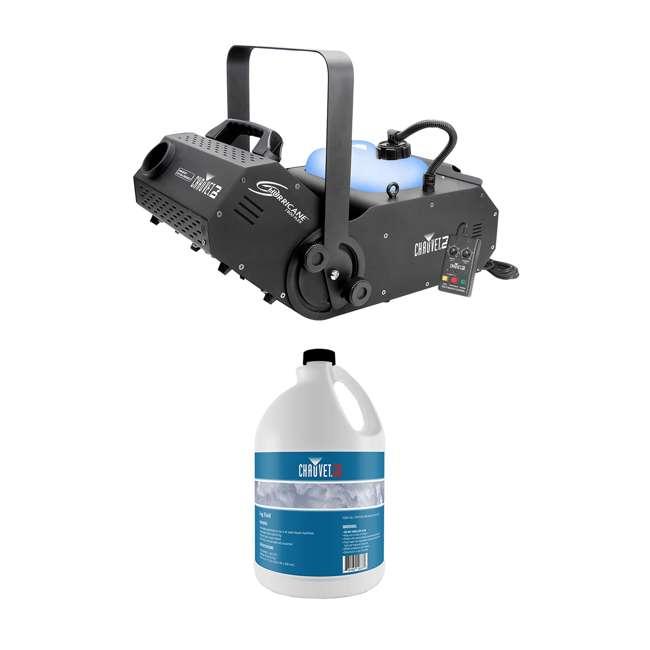 H1800FLEX + FJU Chauvet H1800FLEX Hurricane Fog/Smoke Pro Machine + Fog Juice Fluid (1 Gallon)