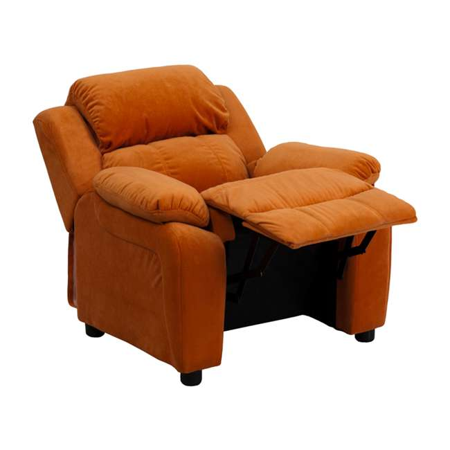 BT-7985-KID-MIC-ORG-GG Flash Furniture Deluxe Padded Orange Microfiber Kids Recliner with Storage Arms 4