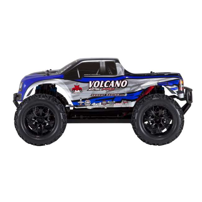 VOLCANOEPPRO-94111PRO-BS-U-C Redcat Racing Volcano EPX Pro 1:10 Scale RC Monster Truck, Blue (For Parts) 1