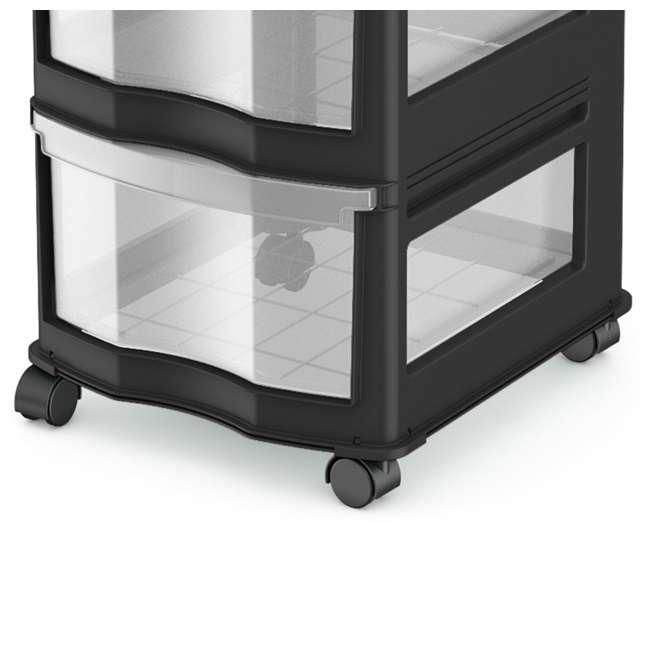 3 x DRW3-M-BL Life Story Classic 3-Shelf Storage Organizer Drawers, Black (3 Pack) 3