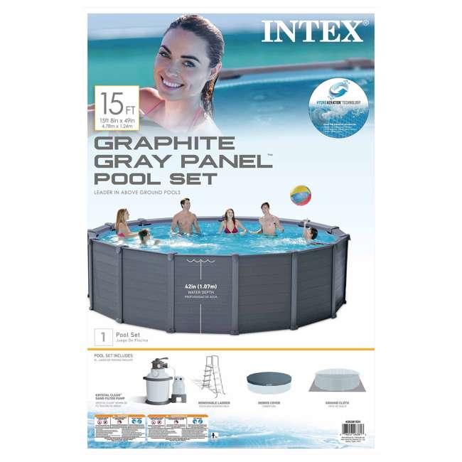 "Swimming Pool Alarms Reviews: Intex 15' 8"" X 49"" Above Ground Swimming Pool Set W/ Sand"