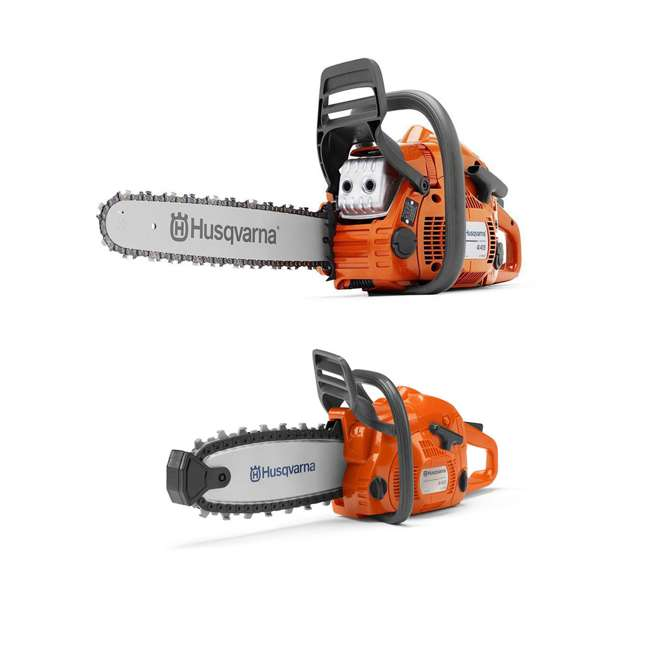 HV-CS-967651004 + HV-TOY-522771104 Husqvarna 445E 18 Inch Bar Gas Chainsaw and 440 Toy Childrens Chainsaw, Orange