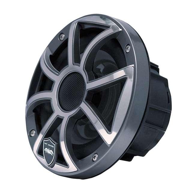"REVO-6-XSG-SS-U-C Wet Sounds 6.5"" 200W Gunmetal LED Coaxial Full Range Marine Speakers (For Parts)"