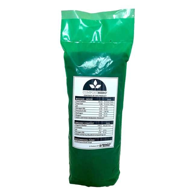 WFBCSC-1LB + WFHERO-CMP-1LB Wakefield 1 lb Biochar Organic Soil Conditioner and 1.5 lb Organic Compost 9