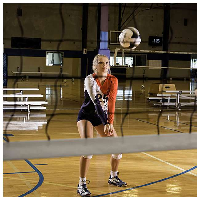 VN700 Champion Sports Official Olympic Sized 32 x 3.13 Inch Volleyball Net, White 4