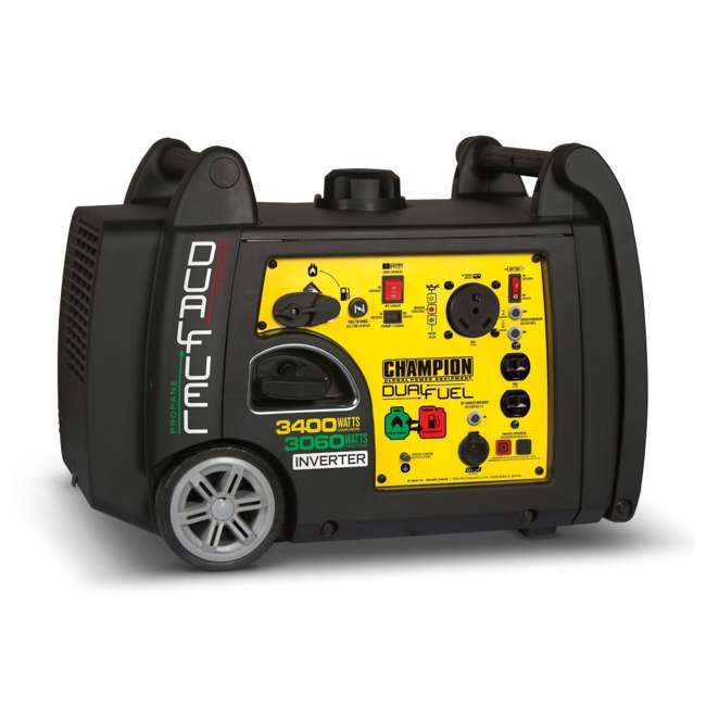 100263 Champion 3400-Watt Portable Dual Fuel Inverter Generator