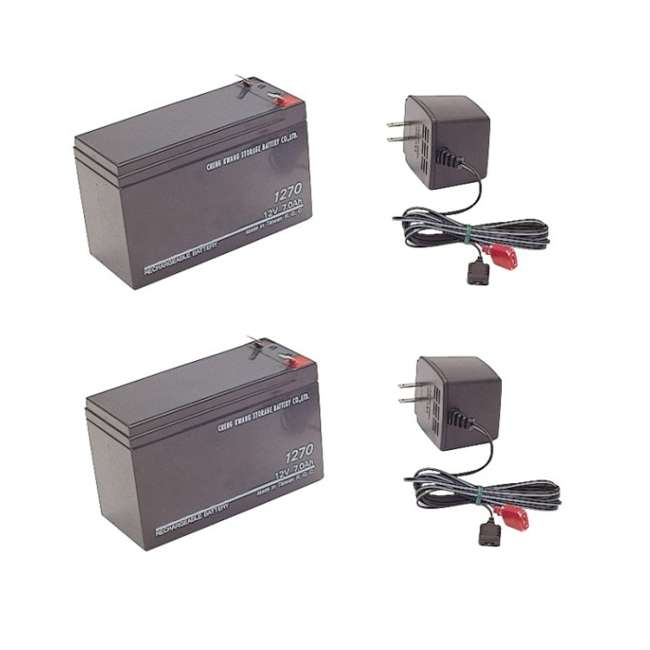 2000015205 Sevylor 12V Batteries - (2) Rechargeable Batteries for Trolling Motor w/ 110V Chargers