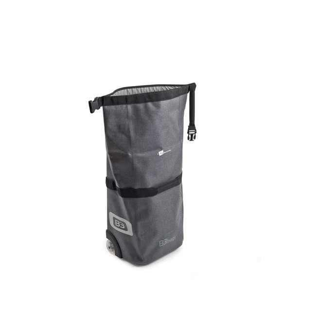 96400/grey B&W International B3 Luggage Bicycle Bag w/ Wheels and Telescoping Handle, Grey 2