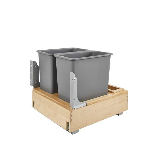 4WCBM-2430DM-2 Rev-A-Shelf 4WCBM-2430DM-2 Double 30 Quart Cabinet Pull Out Waste Containers