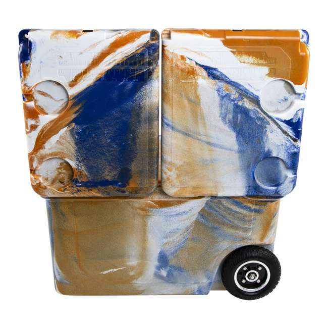 HC50-17ONW WYLD HC50-17ONW 50 Qt. Dual Compartment Insulated Cooler w/ Wheels, Orange/Blue 4