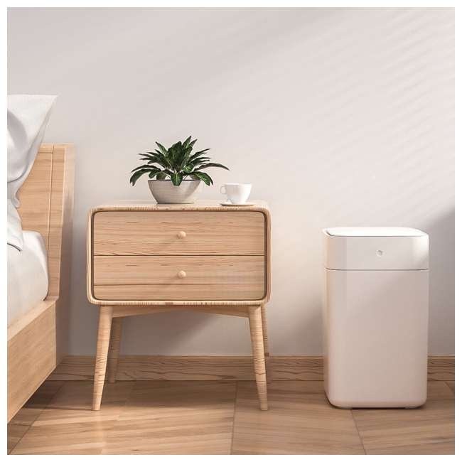 KTN901X0H TOWNEW Electric Motion Self-Sealing & Self-Changing Kitchen Trash Can, White 5