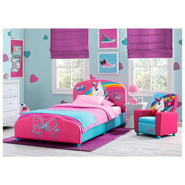 UP83637JS-1126 Delta Children Jojo Siwa High Back Upholstered Toddler Kids Chair, Pink/Blue 4
