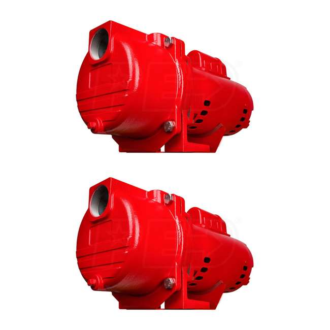 RL-SPRK200 Red Lion 2 HP 76 GPM Cast Iron Sprinkler Pump (2 Pack)