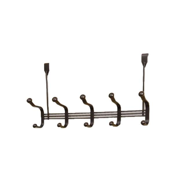 6 x DH30280 Home Basics 5-Hook Over-the-Door Hanging Organizer Rack (6 Pack) 1