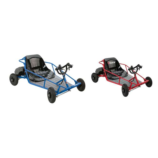 25143540 + 25143511 Razor 25143540 Kids Youth Electric Go Kart Dune Buggy, Blue FrameRazor Dune Buggy