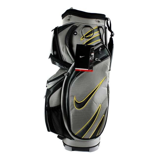 BG0218-017  Nike M9 Golf Bag Adult Cart Style Bag – 14 Way Top Divider Grey & Yellow Color 1