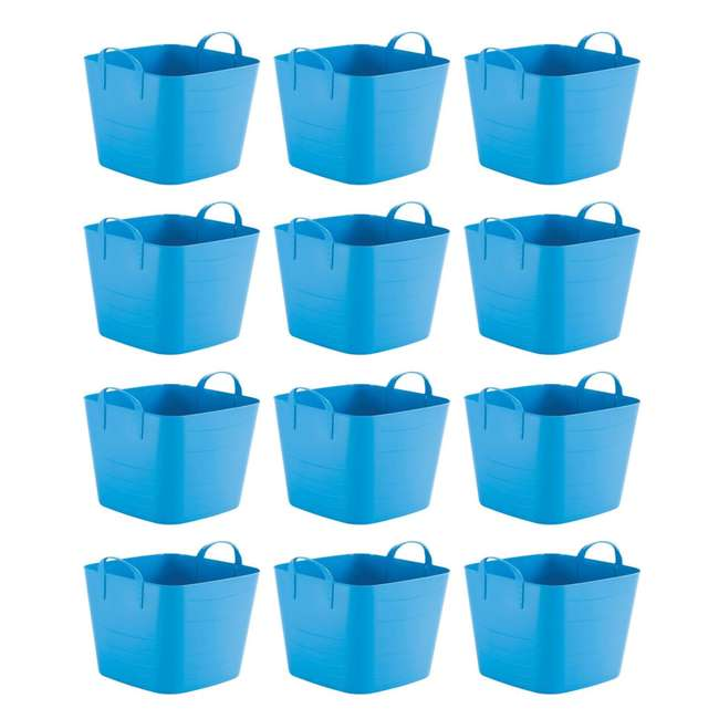 12 x Tub 25L Life Story 25 Liter 6.6 Gallon Durable Plastic Storage Tote, Blue (18 Pack)