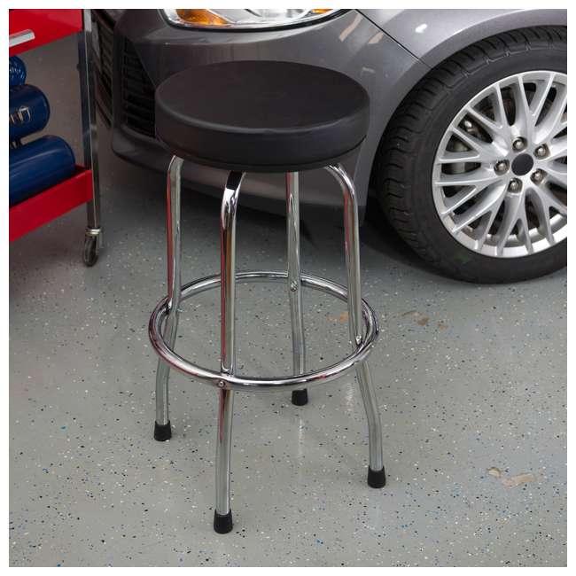 TOR-TRP6185 Torin Big Red Swivel Garage/Shop/Bar Stool, Black (Open Box) (2 Pack) 3