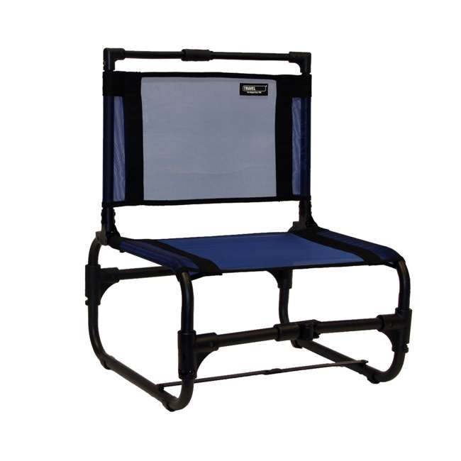 169B TravelChair 169 Larry Weather Resistant Aluminum Outdoor Camping Chair, Blue 3